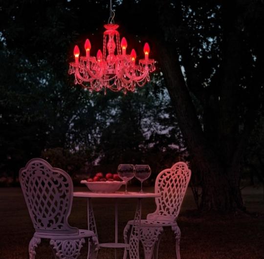 Niiskuskindel rippvalgusti Masiero Drylight S6 LED red