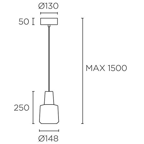 Rippvalgusti Khoi, 19,5W/907lm led, 3000K