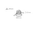 Süvisvalgusti Kohl Luxi IP65 joonis