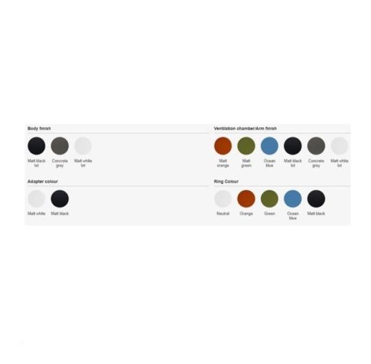 Exenia siinivalgusti R2 värvid