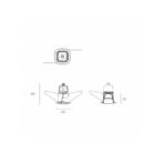 Exenia süvisvalgusti Blog small tehniline joonis