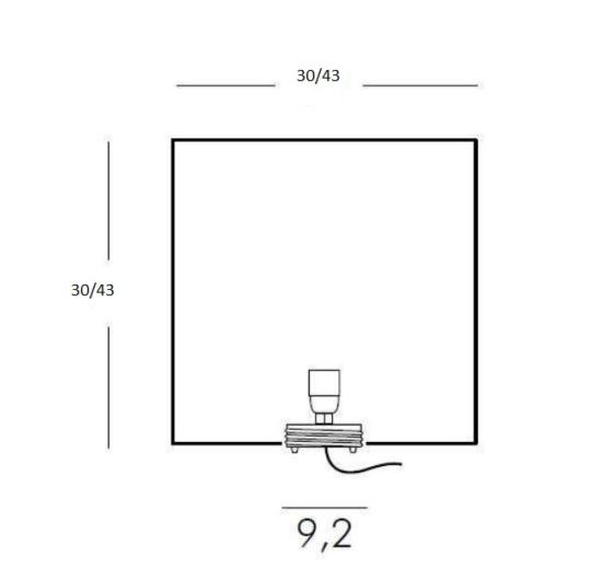 Moltoluce välisvalgusti Cubo joonis