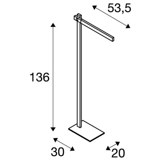 Põrandavalgusti Mecanica Plus