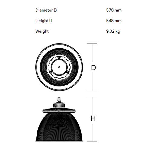 Rippvalgusti RZB Industrial hall refraktor 921493.003 tööstusvalgusti data sheet