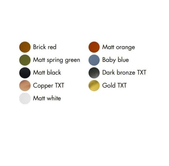 Exenia süvisvalgusti värvid