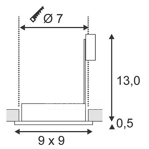 Süvisvalgusti Dolix Out, IP65