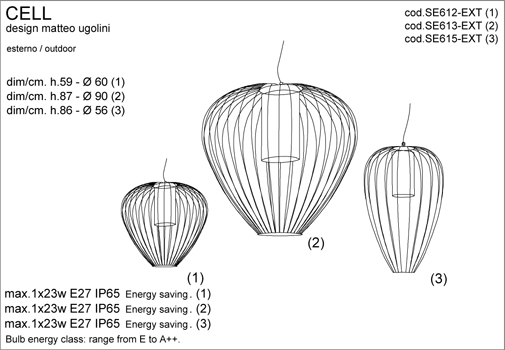 Välisvalgusti Cell, IP65