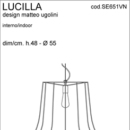 Rippvalgusti Lucilla, 70W E27