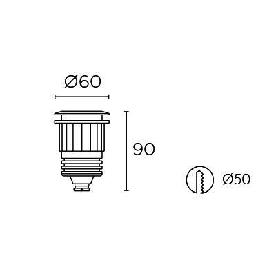 Niiskuskindel süvisvalgusti Aqua Recessed PC, 3W/184lm led, IP68
