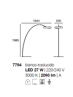 Põrandavalgusti Mr. Magoo, 23W LED