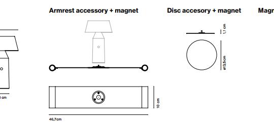 Laetav lauavalgusti Bicoca, 3,2W/478lm LED