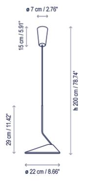 Rippvalgusti Non La, 10,5W/1200lm Led