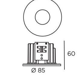 Niiskuskindel süvisvalgusti Su, 7W/500lm LED, 3000K, IP65