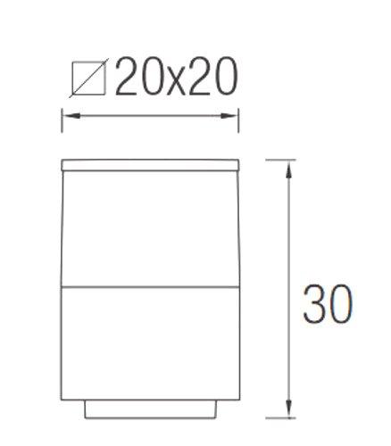 Välisvalgusti Cubik, IP54