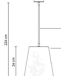 Rippvalgusti Cupido, E27 sokliga