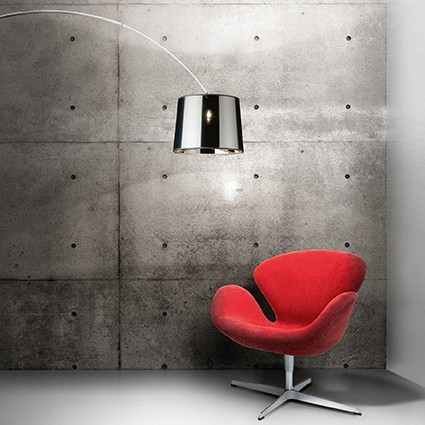 Põrandavalgusti Ideallux Dorsale