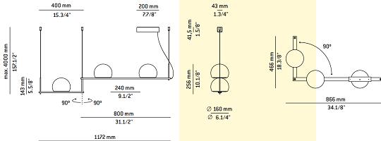 Rippvalgusti Circ, 3x6,1W/3x665lm 3000K led