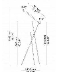Põrandavalgusti Asana, 10,7W/1068lm 3000K