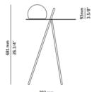Niiskuskindel laud/valgusti Circ, 8W/720lm led, IP65