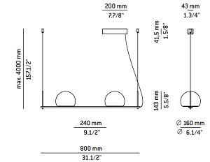 Rippvalgusti Circ, 2x6,1W/2x665lm led