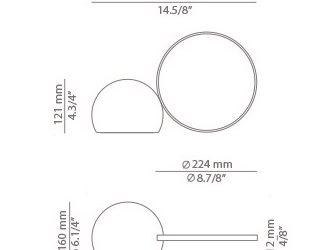 Kaasaskantav valgusti Circ, 2,5W/290lm IP65
