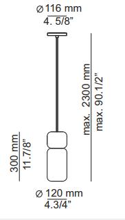Rippvalgusti Pila, 10W/850lm 2700K