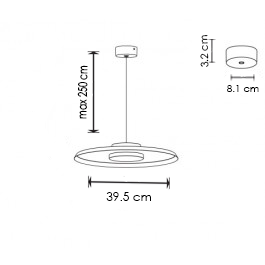Rippvalgusti 360, 10W/1200lm