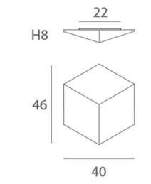 Lae/seinavalgusti Dado, 2xE27 soklitega