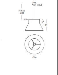 Rippvalgusti Kora, E27 sokliga
