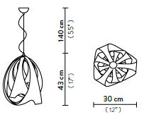 Rippvalgusti Goccia, E27 sokliga