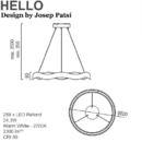 Rippvalgusti Hello, 24,3W/2300lm Led