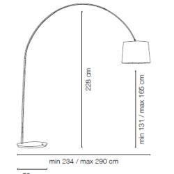 Põrandavalgusti Dorsale, E27 sokliga