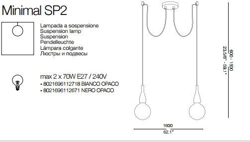 Rippvalgusti Minimal SP2, 2X60W E27