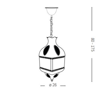 Rippvalgusti Nawa-1, E27 soklitega