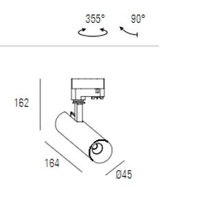 Siinivalgusti Pipes T XS Deco, 7,8W/630lm, 3000K