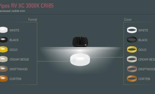 Niiskuskindel süvisvalgusti Pipes RV XC, 6W/690lm LED, 3000K, IP44