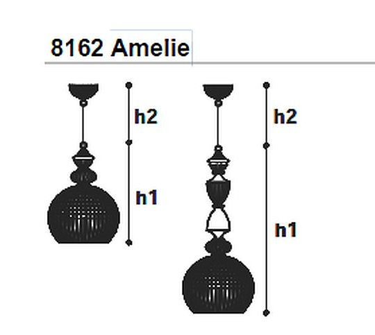 Rippvalgusti Amelie 8162, 16W 1300lm
