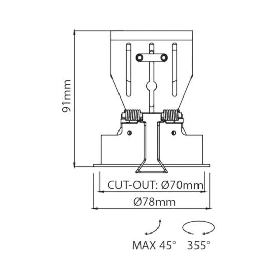 Süvisvalgusti  Dolcemente, 9W/660lm, 3000K, IP43