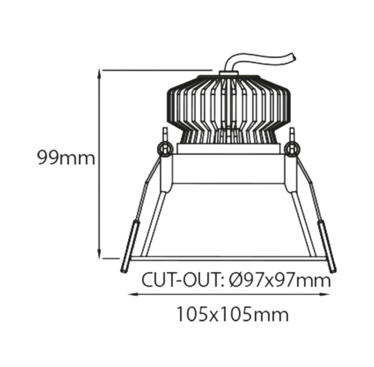 Süvisvalgusti Emozione, 9W/720lm, 3000K, IP43