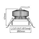 Süvisvalgusti Piccolo, 9W/720lm, 3000K, IP43