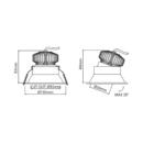 Niiskuskindel süvisvalgusti Popolare Lente, 9W/720lm, 3000K, IP44