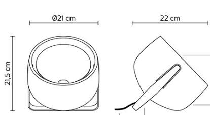Laua/põrandavalgusti Bag, E27 sokliga
