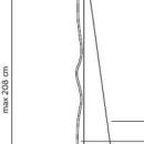 Niiskuskindel rippvalgusti Gonzaga, 13W/1200lm 3000K, IP65