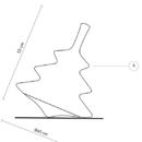 Niiskuskindel laua/põrandavalgusti Pirla, 3xE27 soklitega, IP65