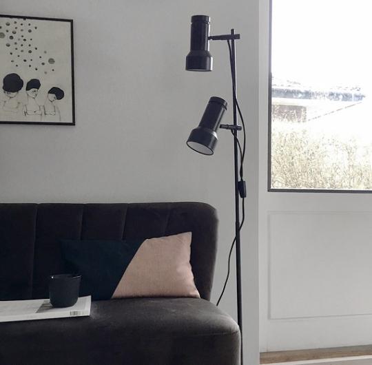 põrandavalgusti_KLASSIK-FLOOR-BLACK frandsen