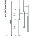 Rippvalgusti Candle Triplex, 9,4W/1075lm LED, 2700K