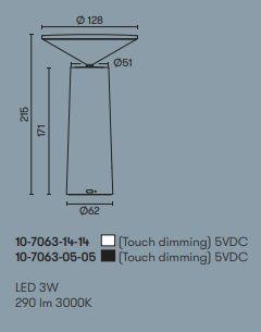 Laetav lauavalgusti Cocktail, 3W/290lm LED, 3000K