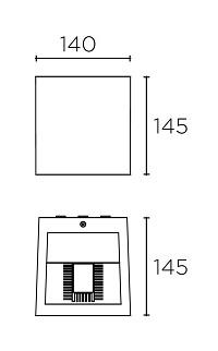 Betoonist välisvalgusti Simenti, 9,5W/954lm led, IP65