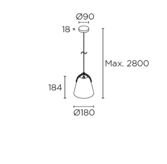 Rippvalgusti Napa, E27 sokliga