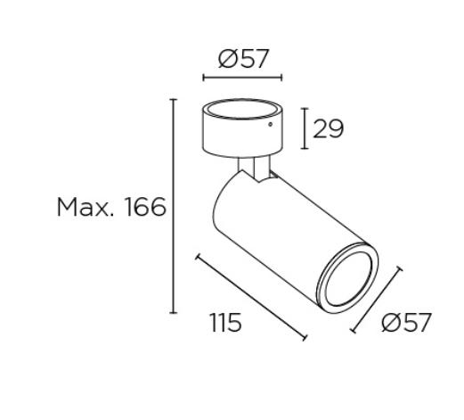 Spot-valgusti Simply, GU10 sokliga